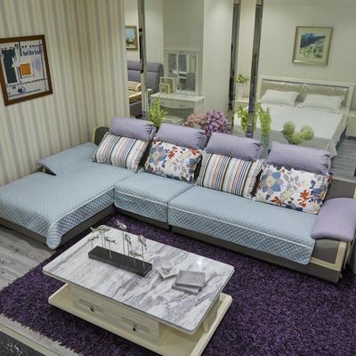 2019新款-富贵棉小白边沙发垫 90*90 灰青色