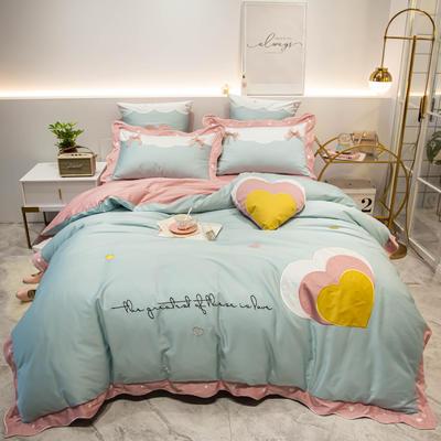 2019新款60长绒棉-爱的幻想四件套 靠枕60*60/对 爱的幻想-天蓝