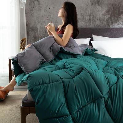 2019新款柔赛丝时尚双拼被 100x150cm 3斤 绿色