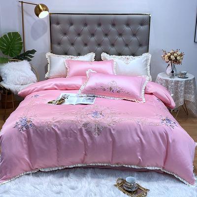 水洗真丝系列四件套-欧迪纳 1.5m(5英尺)床单款 欧迪纳-淡雅粉