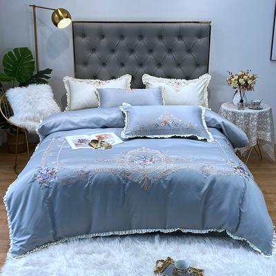 水洗真丝系列四件套-欧迪纳 1.5m(5英尺)床单款 欧迪纳-炫彩银