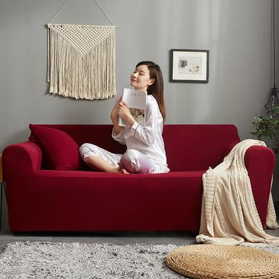 2019新款针织沙发套 90*140cm 拉菲红