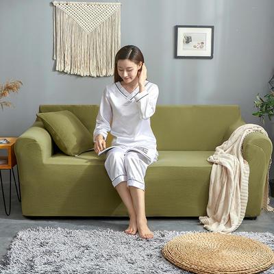 2019新款针织沙发套 90*140cm 蟹黄青
