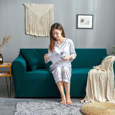 2019新款针织沙发套 90*140cm 祖母绿