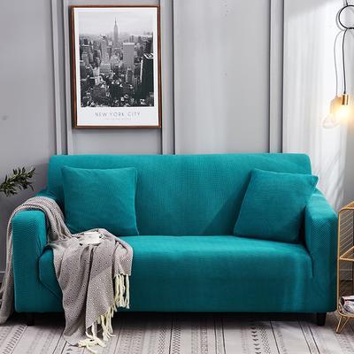 2020新款玉米绒沙发套加厚绒沙发套弹力全包沙发罩 单人(90-140cm) 玉米绒-翡翠绿