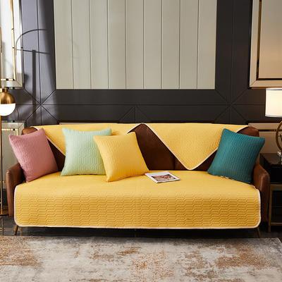 2020新款乳胶沙发垫 70*70cm 凉感丝+乳胶(高级黄)