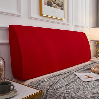 2020新款四季纯色床头罩 长度150 高度50-65cm 大红色