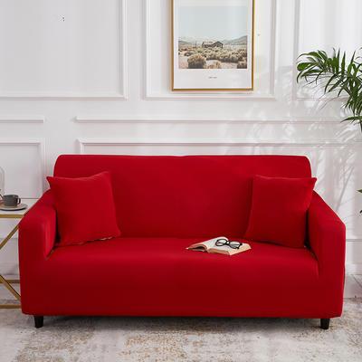 2020新款四季纯色沙发套 单人(90-140cm) 大红色