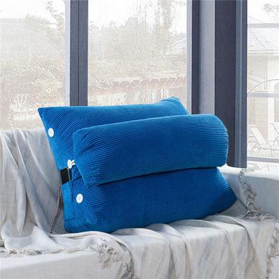2020新款-玉米绒带头枕 60*22*50cm带头枕 宝蓝