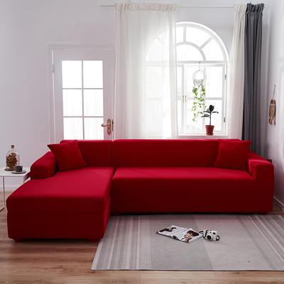2020新品弹力沙发套全包沙发套罩网红沙发套 单人(90-140cm) 大红色