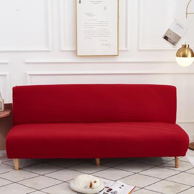 2020新款纯色四季款沙发床 160-190 大红色