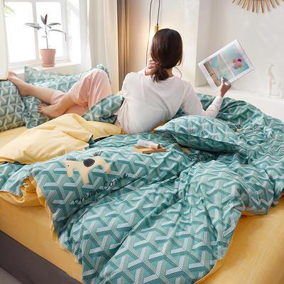 2020新款水洗棉四件套 1.5m床单款四件套 斑点狗