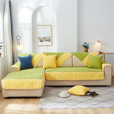 2020新款-玉米绒沙发垫 70*90cm 黄拼果绿