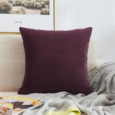 2020新款-臻绒纯色加厚抱枕 45*45cm单套 臻绒-帝王紫