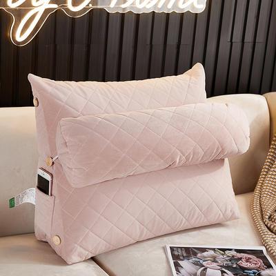 2020新款-乳胶靠背 60*22*50带头枕 粉色