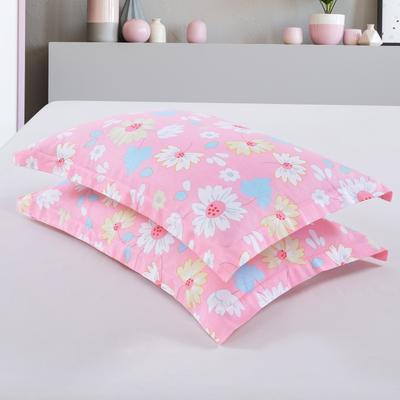 2019新款全棉12868枕套 43cmX73cm/对 爱的花海-粉