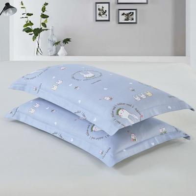 2019新款全棉12868枕套 43cmX73cm/对 兔宝宝