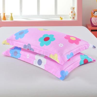 2019新款全棉12868枕套 43cmX73cm/对 幸福花语