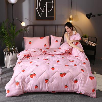 2019新款乐肤棉印花卡通冬被 120x150cm标准冬被 草莓