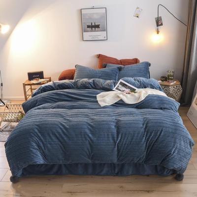 2019新款毛毛虫绒水晶绒四件套系列 2.0m(6.6英尺)床 水洗