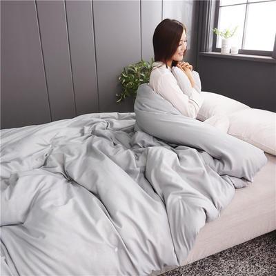 2019新款全棉磨毛纯色蚕丝被 150*200 3斤 灰色
