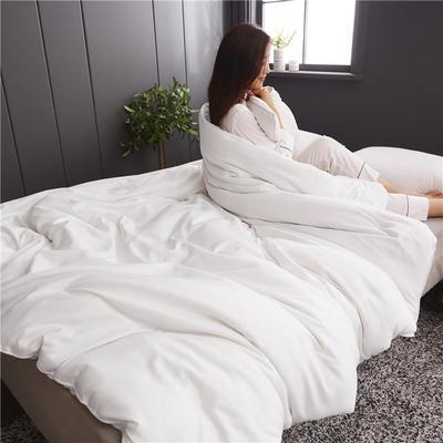 2019新款全棉磨毛纯色蚕丝被 150*200 3斤 白色