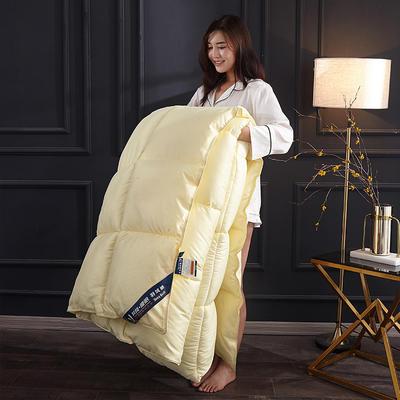 2019新款羽丝绒被被子被芯 1.5m 4斤 黄色