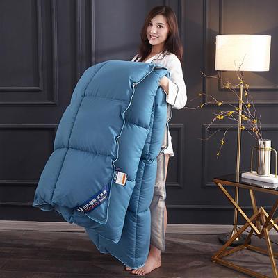 2019新款羽丝绒被被子被芯 1.5m 4斤 深蓝色