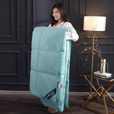 2019新款羽丝绒被被子被芯 1.5m 4斤 水蓝色