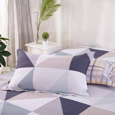 【3】12868普通枕套 枕套一对48*74cm 方格风韵