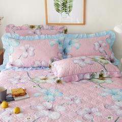 【3】128*68夹棉枕套 45CMX75CM 清风絮语-粉 夹棉枕套