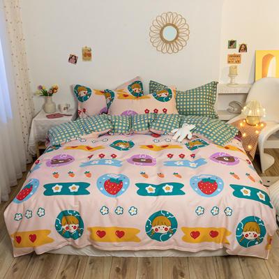 【7】12868全棉【随机版】四件套 1.5m(5英尺)床 保卫萝卜