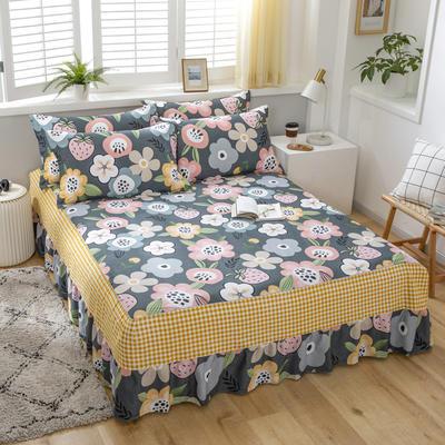 【3】12868单床裙 ②床裙150x200cm 百花寻莓