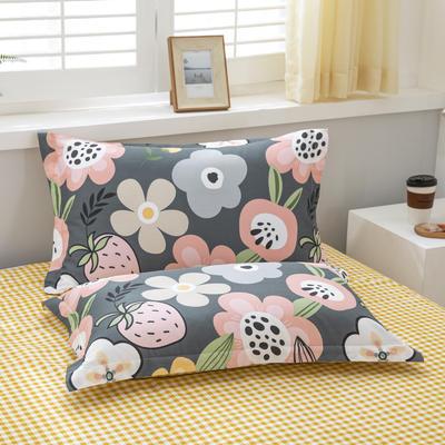 【3】12868普通枕套 枕套一对48*74cm 百花寻莓