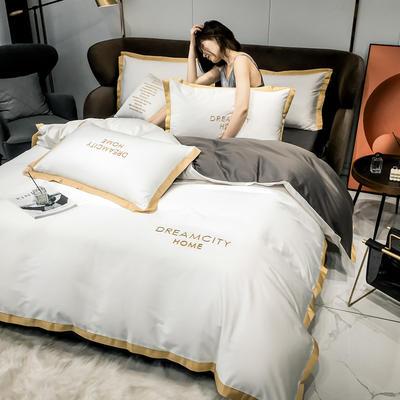 【73】全棉小拼角系列 床单款四件套(标准) 本白