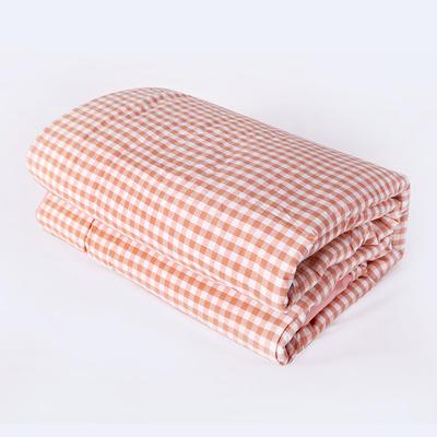 2019新款色织水洗棉夏被,春秋被 150x200cm夏被 粉小格