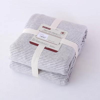 2019新款天竺棉系列-单被套 150x200cm 粉灰细条