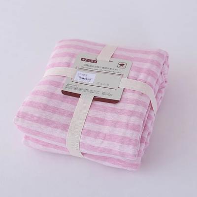 2019新款天竺棉系列-单被套 150x200cm 粉色中条