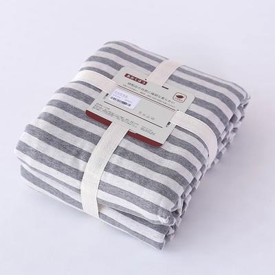 2019新款天竺棉系列-单被套 150x200cm 灰色中条
