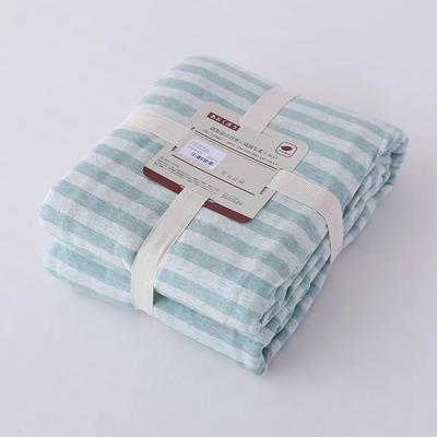 2019新款天竺棉系列-单被套 150x200cm 绿色中条