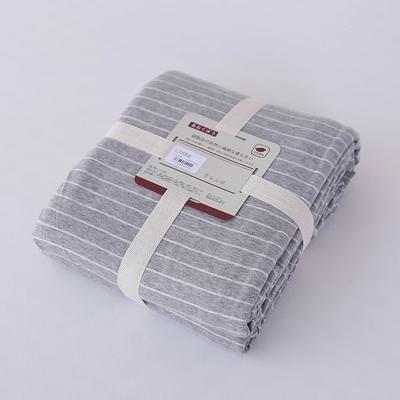 2019新款天竺棉系列-单被套 150x200cm 浅灰窄条