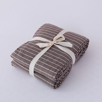 2019新款天竺棉系列-单被套 150x200cm 棕色窄条条