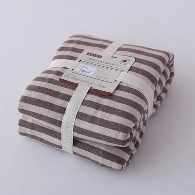 2019新款天竺棉系列-单被套 150x200cm 棕色中条