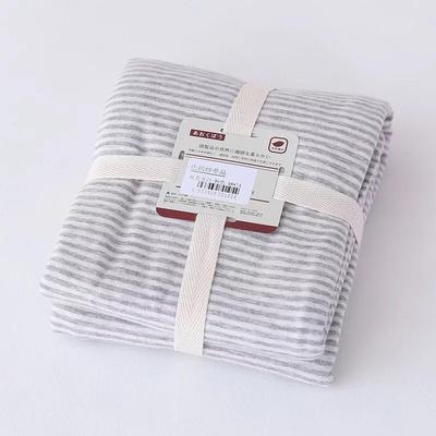 2019新款天竺棉系列-单枕套 48cmX74cm 粉灰细条