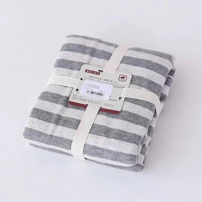 2019新款天竺棉系列-单枕套 48cmX74cm 灰色中条