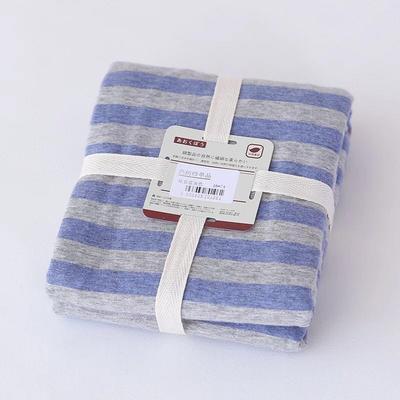 2019新款天竺棉系列-单枕套 48cmX74cm 蓝色中条