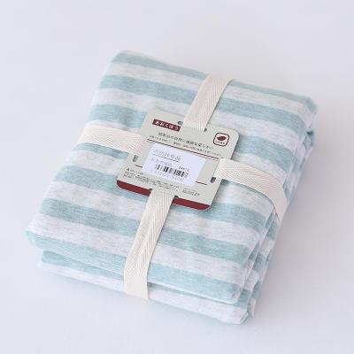 2019新款天竺棉系列-单枕套 48cmX74cm 绿色中条