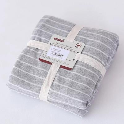 2019新款天竺棉系列-单枕套 48cmX74cm 浅灰窄条
