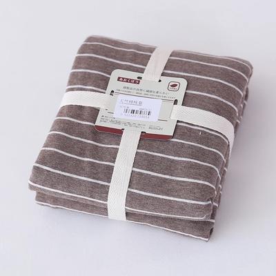 2019新款天竺棉系列-单枕套 48cmX74cm 棕色窄条