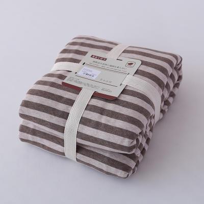 2019新款天竺棉系列-单枕套 48cmX74cm 棕色中条